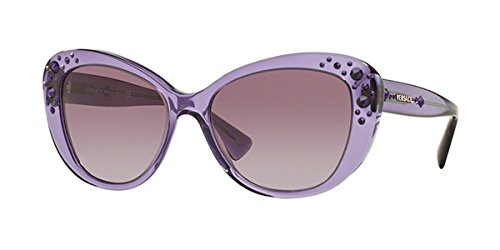 Versace Women's Sunglasses 4309B 51608H 57mm Crystal Purple Cats - Versace Purple Sunglasses