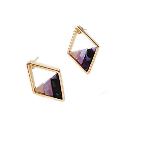 ABIGAIL READ Contracted Lozenge Color Contrast Color Earrings Female Fashion Lady Geometric Hollow Out The Triangle Stud Earrings Earrings,W01