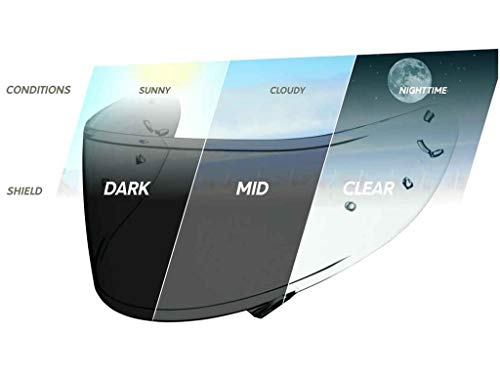 Shoei Transitions Photochromic Shield with Pinlock Pins CWR-1 Street Bike