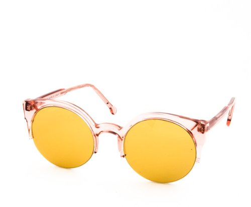 RETROSUPERFUTURE Sunglasses Lucia 573 Candy Pink with Yellow