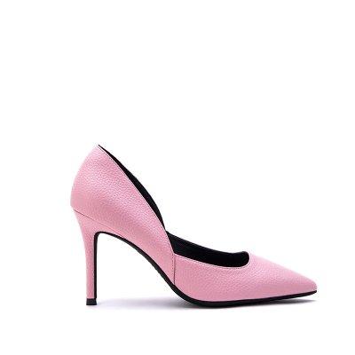 fino FLYRCX altos de sugerencia de moda La cuero tacones partido femenina superficial zapatos f de simple zapatos personalidad cuero sexy CCvr1p
