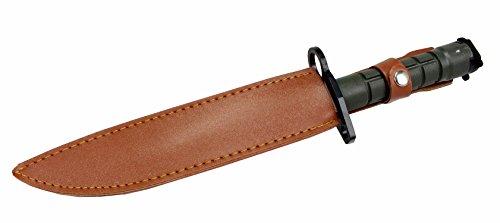 135-Defender-Xtreme-M9-Bayonet-Combat-Knife-Green-Handle-With-Vinyl-Sheath