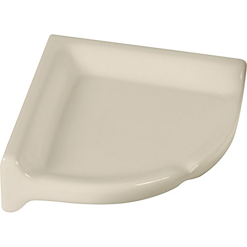 Apple Creek Ceramic Shower Corner Shelf, 7 inch, Bone