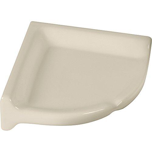 Apple Creek Ceramic Shower Corner Shelf, 7 inch Bone