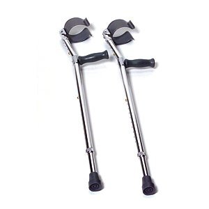 CAREX Forearm Crutches - 5'0' - 6'2' - Adult - Pack: 2