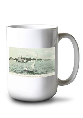 (Lantern Press Alameda, California - Boating on San Francisco Bay (15oz White Ceramic Mug))
