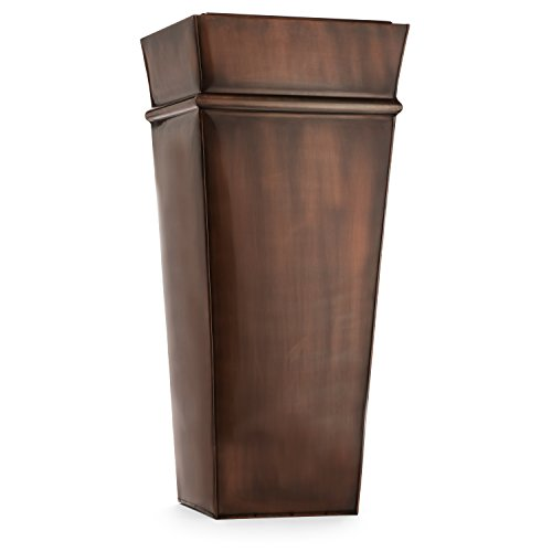 H Potter Planter Tall Indoor Outdoor Patio Deck Garden Flower Planters Container (ANTIQUE COPPER) by H Potter