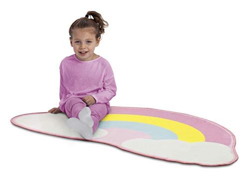 Delta Children Non-Slip Area Rug for Girls, Rainbow ()
