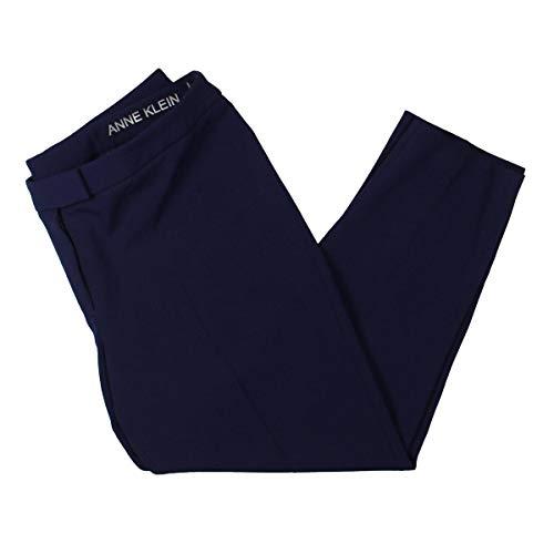 Anne Klein Women's Slim Leg Crepe Pants Monaco 16 29