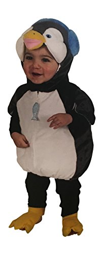 Prime Party Supplies Baby Penguin Halloween Costume for Trick Treat Dress Up with Orange Feet (Baby Penguin, 3-6 Months)