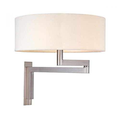 Sonneman 3620-13 Two Light Wall Lamp, Silver (Sconce Silver Sonneman)