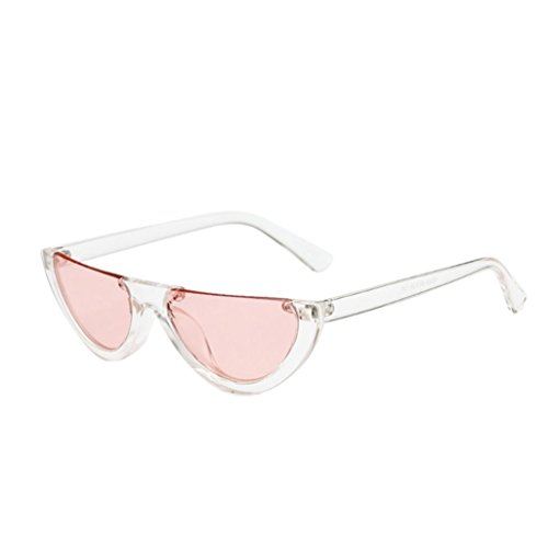 Forthery Goggle Cat Eye Sunglasses Vintage Designer Shades Glasses Mirrored Lens (E)