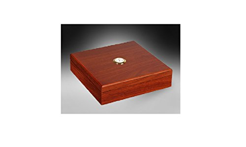 Desktop Cigar Humidor Humidifier - Up to 20 Cigars (Walnut) by PK