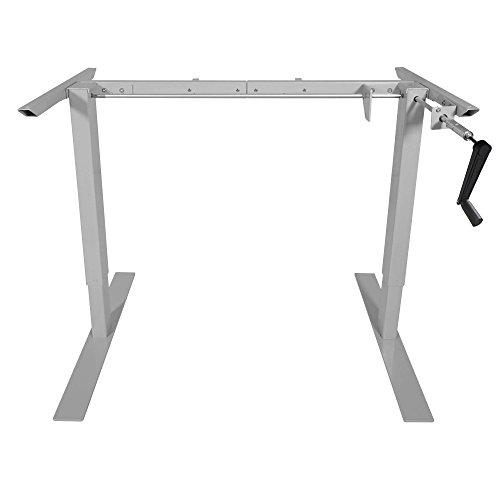 Titan Manual Hand Crank Adjustable Sit-Stand Standing Desk Frame 50