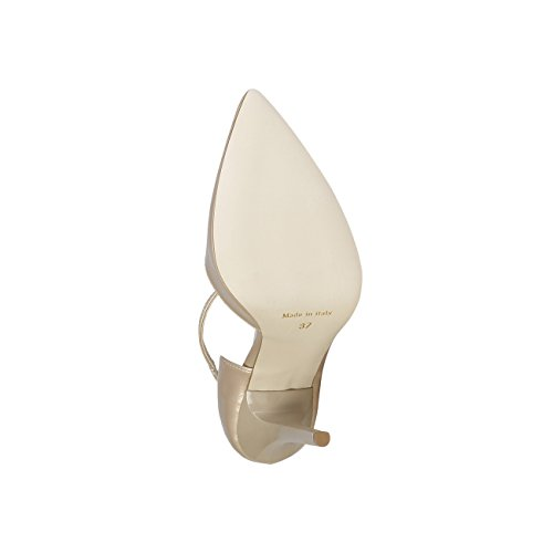 V 1969 - EVELYNE_BEIGE Scarpe Col Tacco Pumps Donna Tacco: 11.5 cm