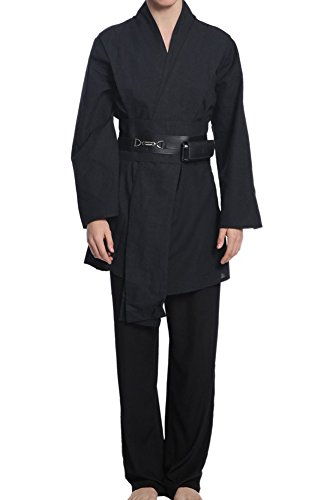 Men's Star Wars Costume Anakin Skywalker Black Outfit Medium (Anakin Skywalker Robe)