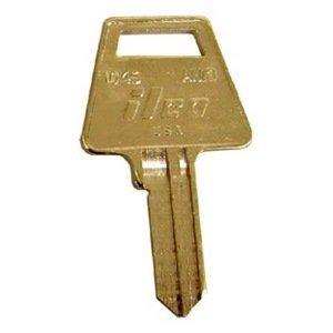 AM3 American Padlock Key Blank by Taylor (Box of 50 brass keys)