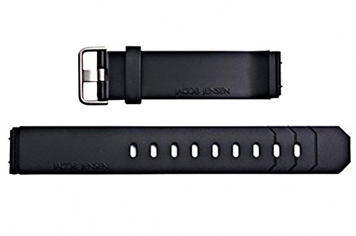 Jacob Jensen Replacement RUBBER Watch Band for Chronograph 600, 601, 602.