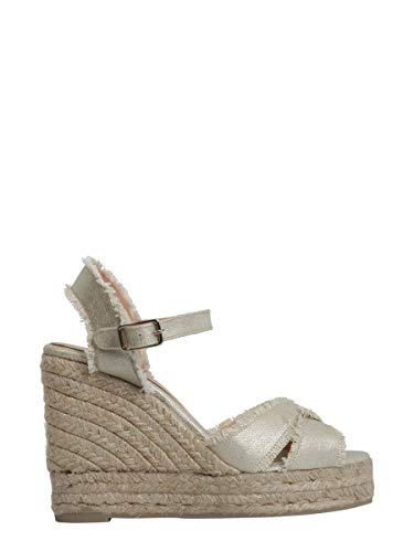 Bromeliass180463002h8ed Compensées Femme Chaussures Castaner Beige Tissu 5HqBXw