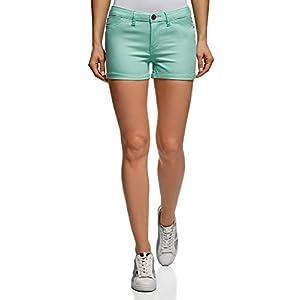 oodji Ultra Donna Shorts in Jeans Stretch con Risvolti 9 spesavip