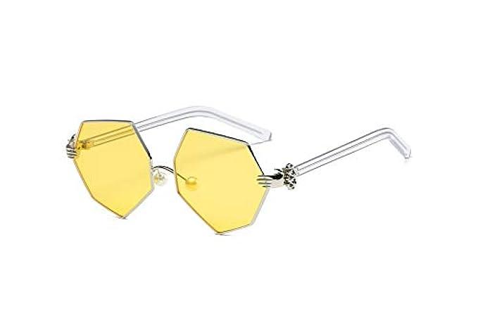8dfc10d19d744 Marca Occhiali Argento Retro Alta Specchio Di A Lusso Giallo Sole Donna W  Sunglasses Tyjmeng Da