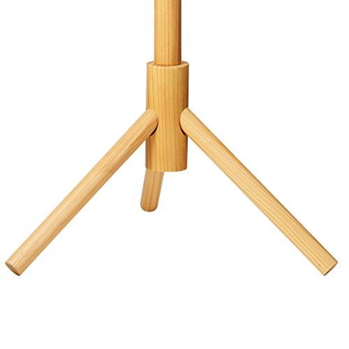 193fe463ef ZOBER Premium Wooden Coat Rack Free Standing