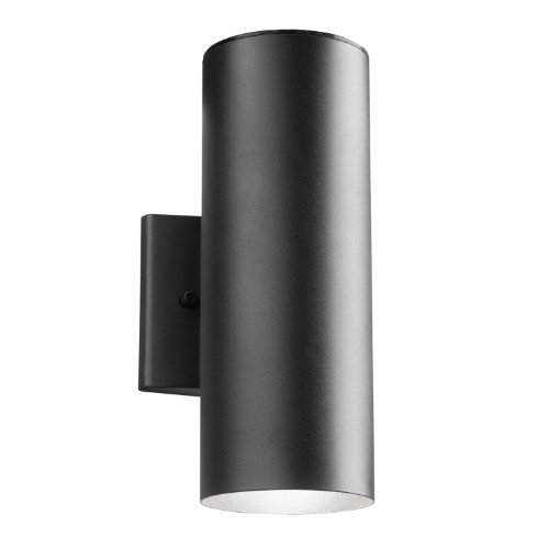 Kichler  11251BKT Outdoor 11.23W 12-Inch LED Wall Mount, Textured Black Finish For Sale