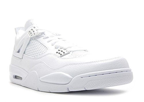 Jordan Nike Air 4 Retro 25th Anniversary 408202-101-9.5 White/Metallic Silver