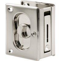 Prime Line Products N7367 Lock Pocket Door Satin Nickel
