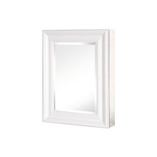 Pegasus SP4598 Deco 20-Inch Framed Medicine Cabinet, White