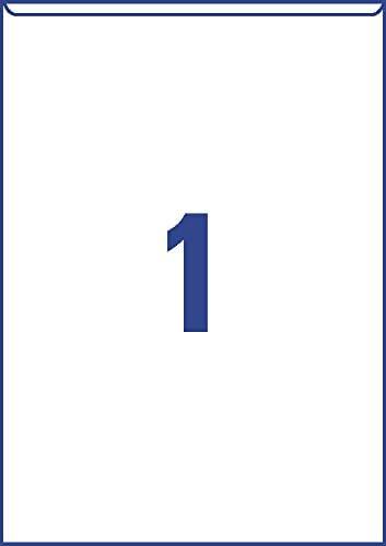10 St/ück, 221 x 304 mm, beschichtet, gl/änzend, selbstklebend 10 Blatt transparent Avery Zweckform L7083-10 Schilder-Taschen
