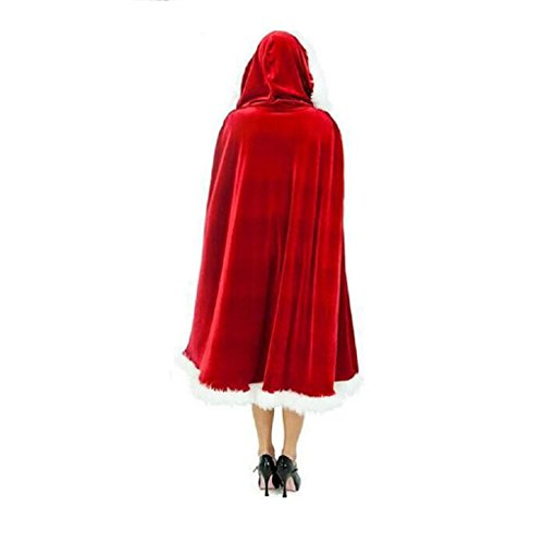 Mrs Claus Robe (Stebcece Women Red Mrs Santa Claus Christmas Cardigan Hooded Cape Cloak (130))