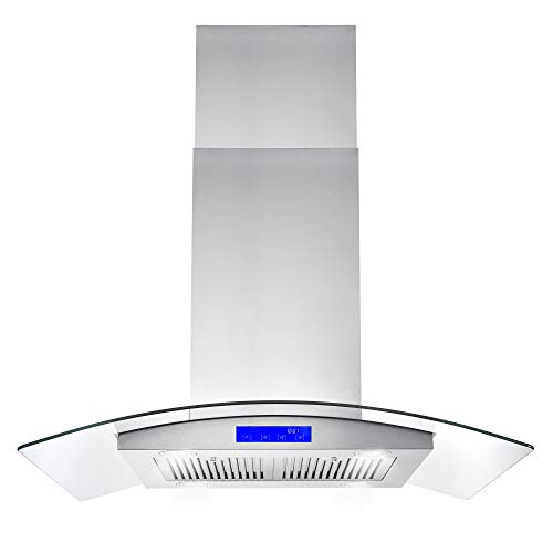 Cosmo 668ICS900 36-in Kitchen Ceiling Island Mount Range Hood 900-CFM