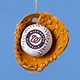Washington Nationals Ball and Glove Christmas Ornament