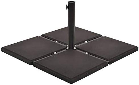 vidaXL Base con Peso para Sombrilla Hormigón Negro Cuadrada 12kg ...