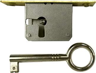 Steel Antique Style Drop in Lock Full Mortise Door or Drawer Lock with Key