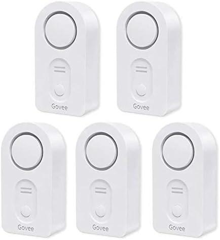 Govee Water Detectors 5 Pack, 100dB Adjustable Audio Alarm, Sensitive Leak and Drip Alert, for Kitchen Bathroom Basement (Battery Included)