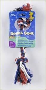 """Aspen Pet Booda Multicolor Small Rope Bone for Dogs 8-18lbs """"Sale Aspen Pet Booda - Rope Toys"""""""