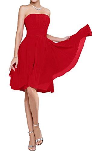 mujer Topkleider trapecio Vestido para Rojo Owztx