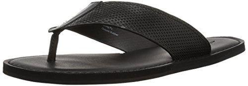 ALDO Men's Ceastun Flip-Flop, Black Leather, 8 D (Aldo Leather)