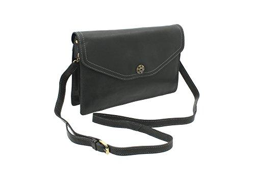 cuir noir en épaule Collection 88 avec Pochette Mala 791 TUDOR Noir détachables bretelles RgFWq