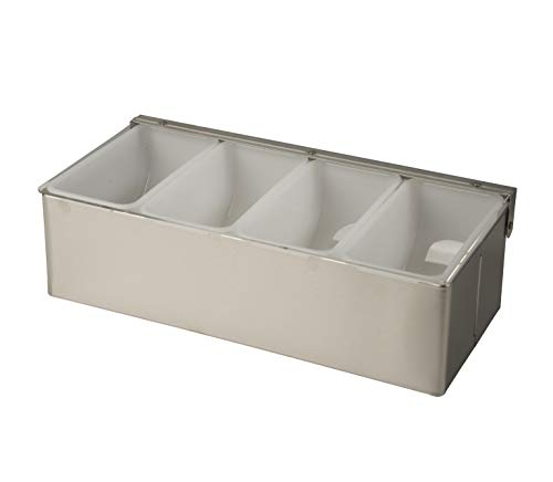 Update International CD-4 Four Compartment Stainless Steel Condiment Dispensers ()