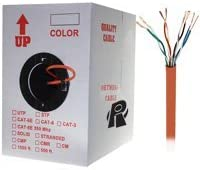 1000ft Bare Copper Cat5e Bulk Cable 350MHz Distributed by NAC Wire and Cables Stranded Wire Orange