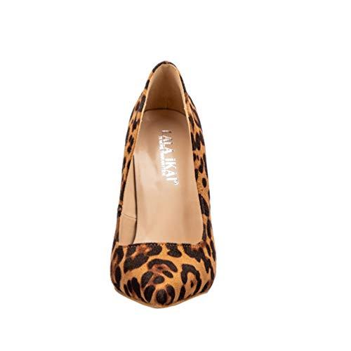 Chaussures De Troupeau Bureau Dame Sexy Pointue Femmes Occasionnel Talons Jrenok Noces Léopard 8Bxwvq4F5