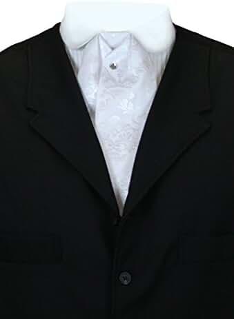 Historical Emporium Men's Satin Floral Puff Tie