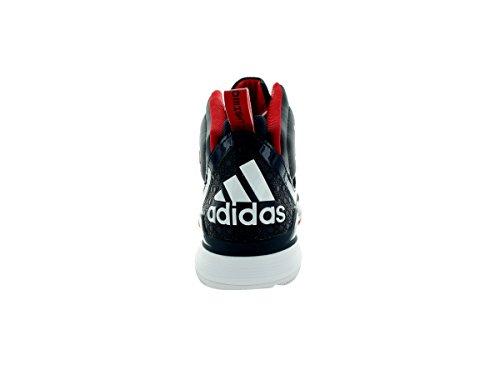 Adidas Mens D Howard 5 Scarpa Da Basket Collegiale Blu / Luce Scarlatta / Corsa Bianca