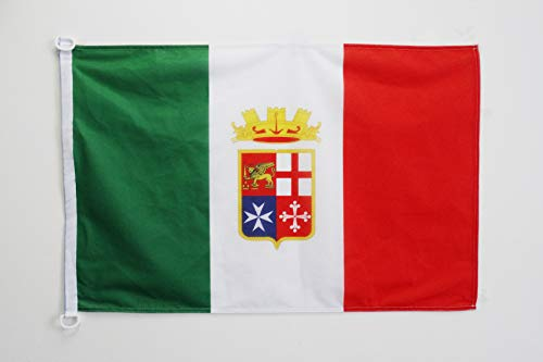 AZ FLAG Italian Navy Nautical Flag 18'' x 12'' - Italy Military Flags 30 x 45 cm - Banner 12x18 in for Boat ()