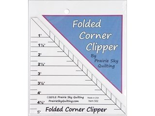 Prairie Sky Quilting Templates Folded Corner Clipper