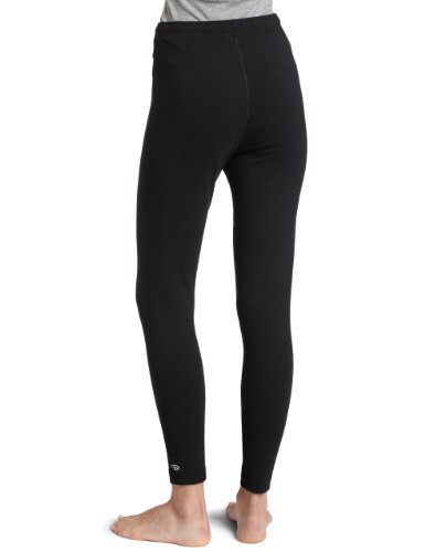 Duofold Women's Expedition Weight Two-Layer Thermal Ankle Length Bottoms, Black, Small
