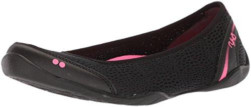 Ryka Women's Sandra Walking Shoe, Black/Pink, 9 M US
